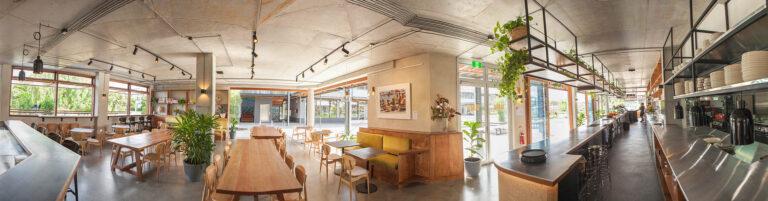Barrio byron bay restaurant interior panoramic shot