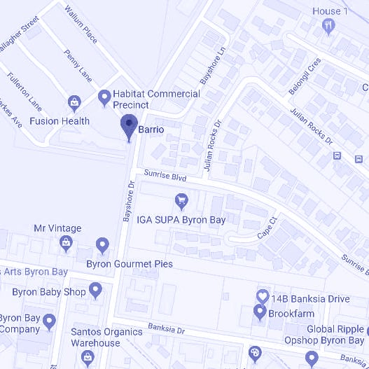 barrio byron bay map industrial estate